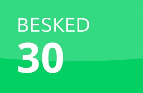 BESKED 30