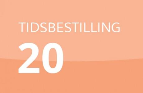 TIDSBESTILLING 20